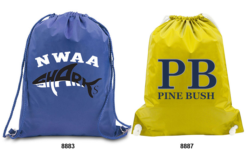 Custom Water Resistant Drawstring Bags