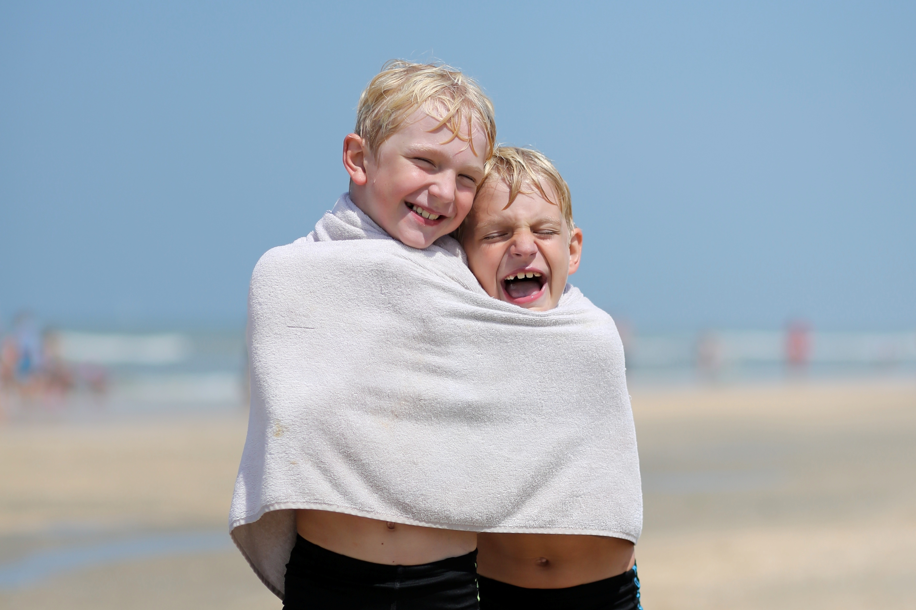 Kids Sharing Towel